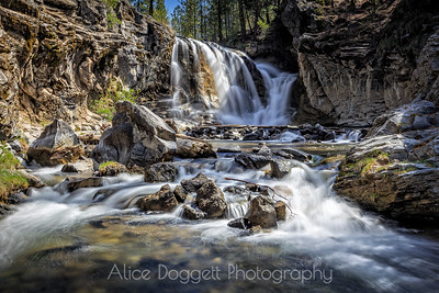 McKay Crossing Falls, Paulina Creek,  Central Oregon