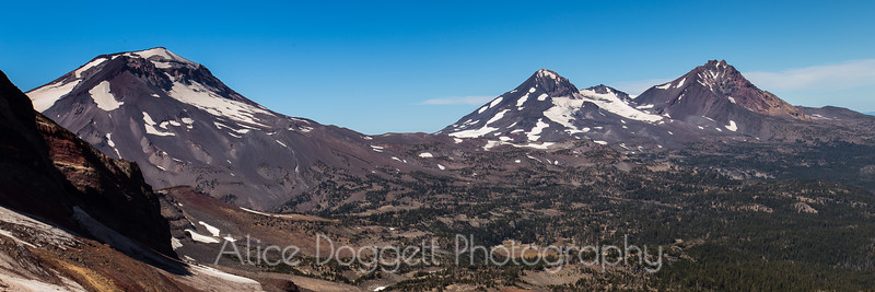 """Three Sisters"" Mountain Peaks In Central Oregon"