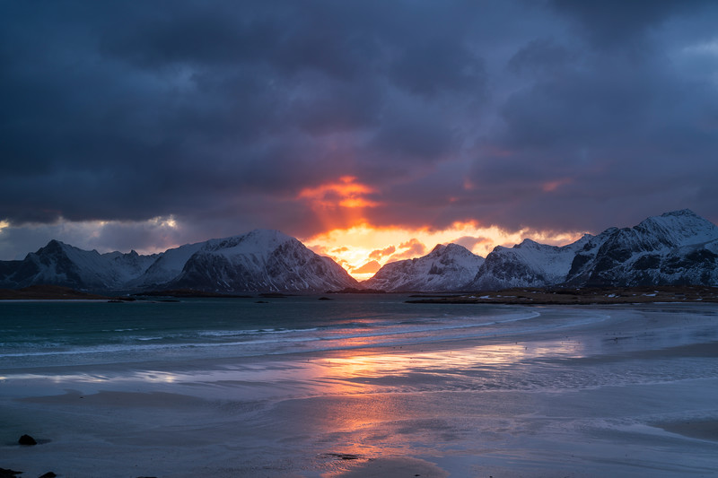 Fredvang, Lofoten at sunset