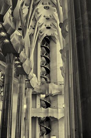 Aisle in Sagrada Família, Barcelona