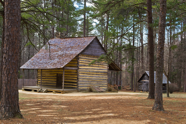 """""""Rustic Living""""<br /> Life during the 1700's exhibited at the Alamance Battleground Historical Site. -  Alamance, North Carolina<br /> *Alamance Battleground was the first battle of the Revolutionary War"""