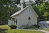 Historic Quaker Church, rendered as penciled drawing - Eli Whitney, NC