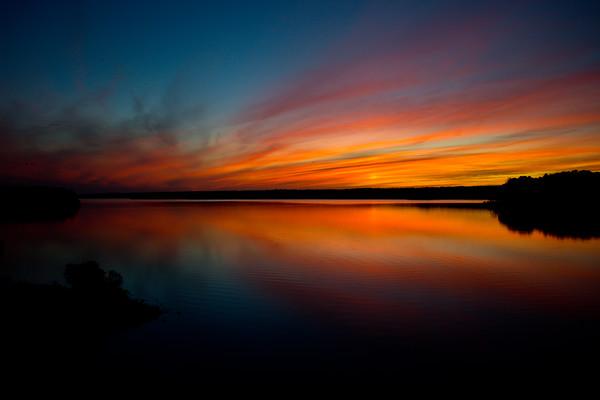 Sunset over Jordan Lake 2