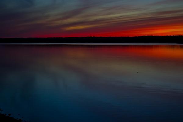 Sunset Over Jordan Lake 4