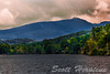 Stormy day at Price Lake on the Blue Ridge Parkway.  Notice leaves already changing in late August.