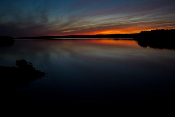 Sunset Over Jordan Lake 3