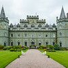 Inveraray Castle ancestral home of the Duke of Argyll - banks of Loch Fyne, Scotland