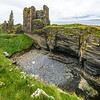 Castle Sinclair Girnigoe overlooking the Bay of Sinclair - Caithness, Scotland
