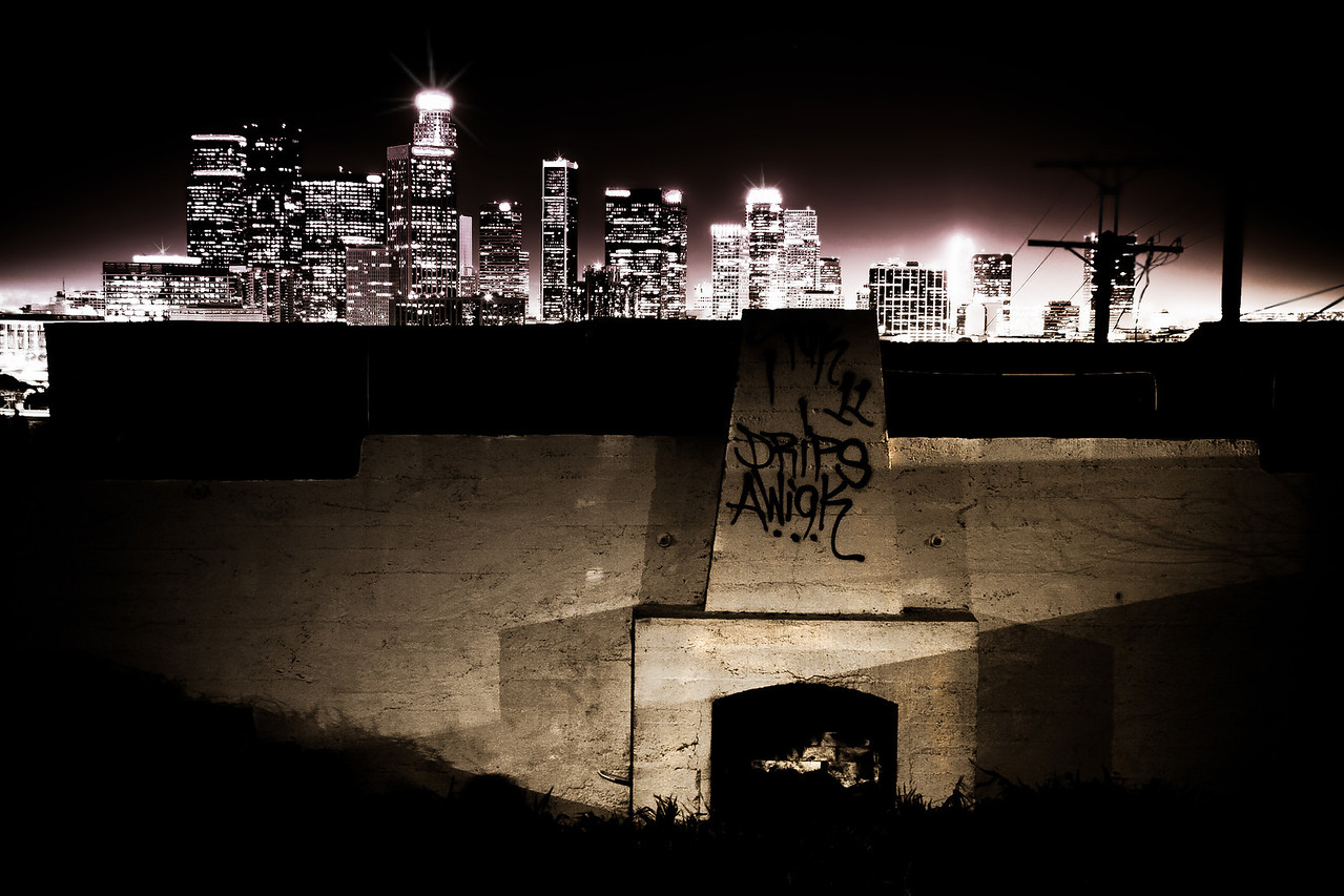 Abandon Foundation~<br /> <br /> Night cityscape of downtown Los Angeles