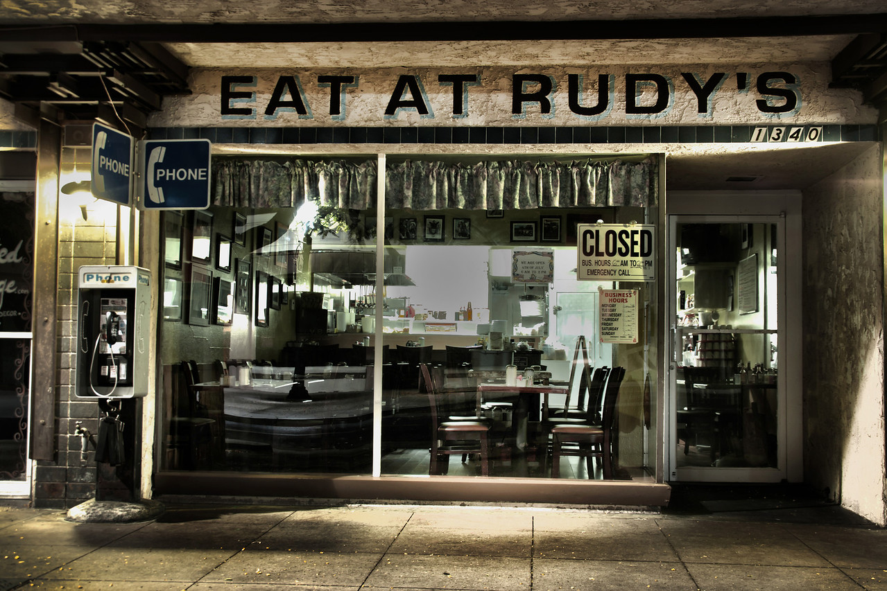 Can't Eat at Rudy's!~<br /> <br /> Old Torrance, Ca.