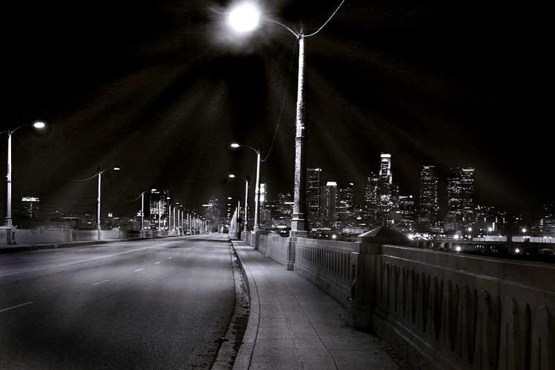 6th Street Cityscape~ Black and White<br /> <br /> <br /> <br /> Los Angeles, Ca.