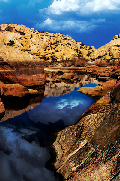 Let's Reflect~<br /> <br /> Beautiful Barker Dam located in Joshua Tree National Park