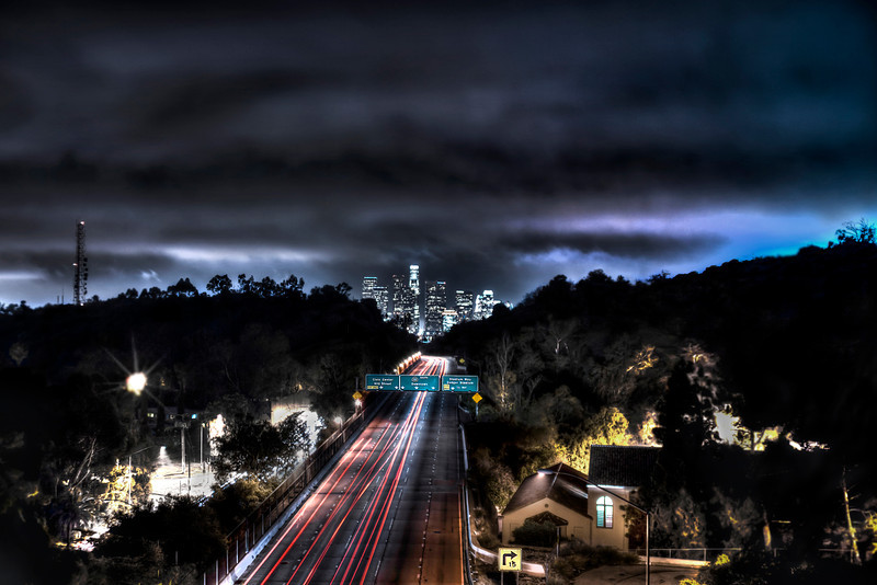 Moody Commute!<br /> <br /> Dramatic sky over downtown Los Angeles