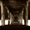 Sepia Creepia~<br /> <br /> Misty night under the Manhattan Beach Pier~<br /> Manhattan Beach, CA.