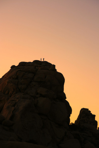 Success~<br /> <br /> Rock Climbers enjoying their triumph.<br /> Joshua Tree National Park