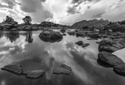 Island Lake Mirror B+W