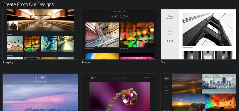Dozens of beautiful layouts come free with every SmugMug site Power and up!