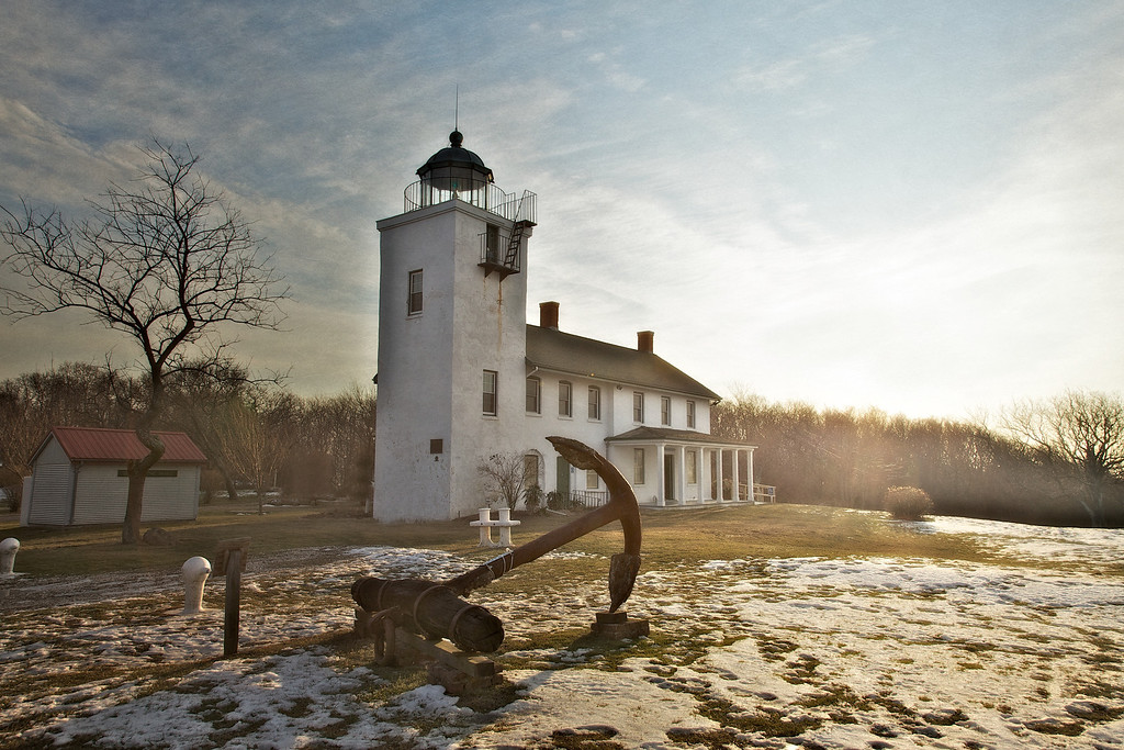 19th Century Architecture: Horton Point Lighthouse and Nautical Museum, Horton Point Lighthouse and Nautical Museum, Southold, Suffolk County, North Fork of Long Island, New York
