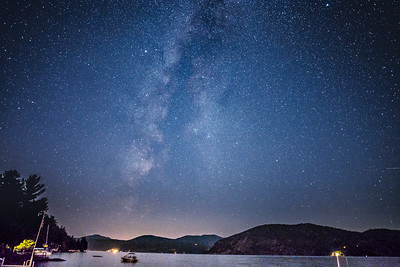 Night Sky Over Lake George