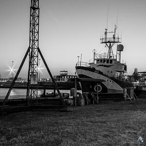 Sirius, voormalig loodsboot en actieschip van greenpeace.