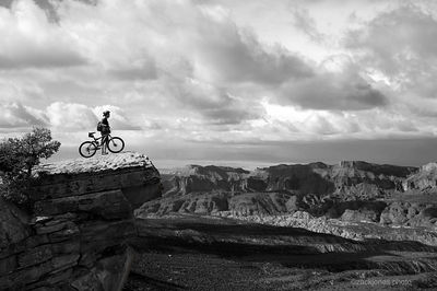 Why we ride.  Viewpoint from Fisher Mesa, La Sal Mountains, Utah. 2005