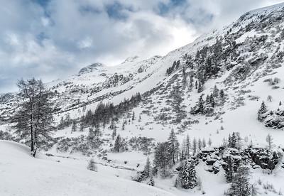 Winterstimmung bei Pischa