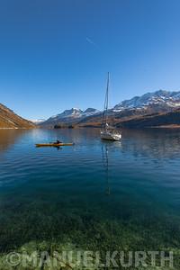 Kajak auf dem Silsersee
