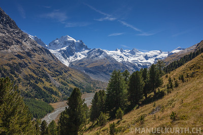 Val Roseg and Piz Roseg, Engadin, Schweiz