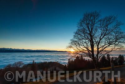 Sonnenuntergang am Bachtel