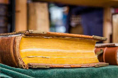 Ancient hardback book
