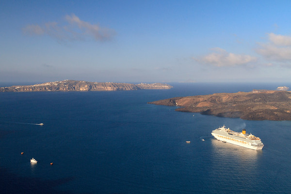 Cruise ship at Santorini