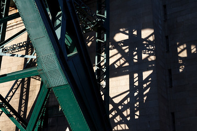 Shadows of Tyne bridge