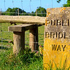 Engraved stone sign for a public bridleway