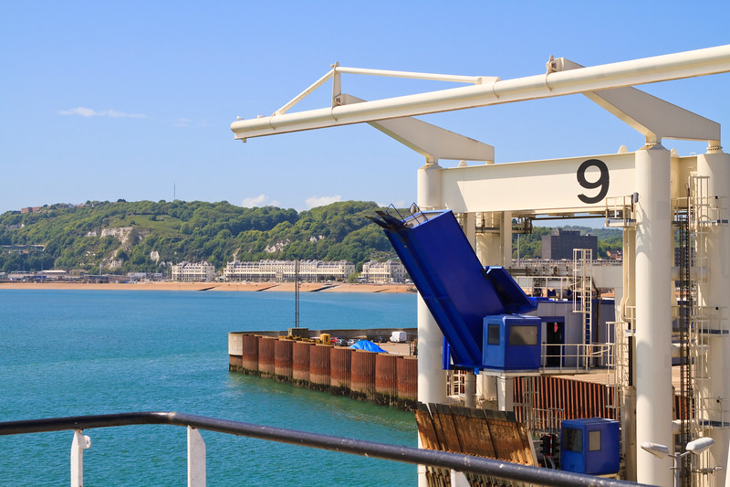 Bording at Dover harbour england