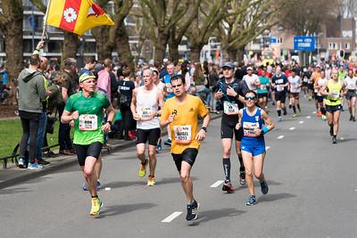Marathon running in Rotterdam