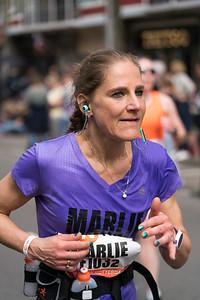 Woman waering purple