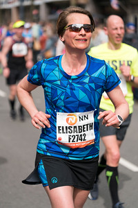 Smiling female runner