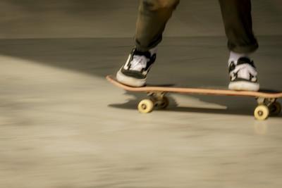 Skateboard speed blur
