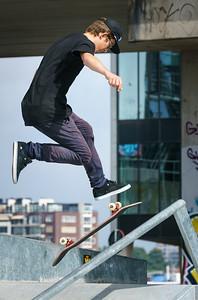 High skateboard jump