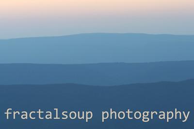 Evening Blue Ridge Mountains Create Colorful Palette