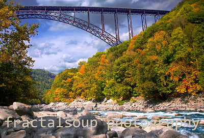 Bridge over New River in West Virginia