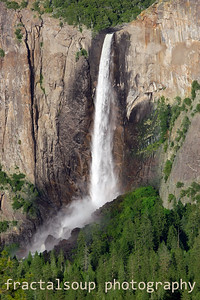 Yosemite's Bridalveil Falls at Dusk from Tunnelview