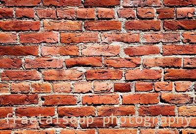 Rough, Old Brick Masonry Wall