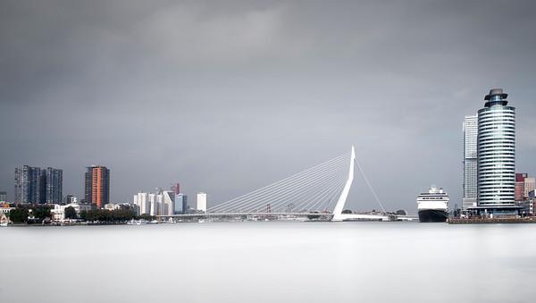 Rotterdam, Port of Rotterdam, Erasmus bridge, jeroen roosen
