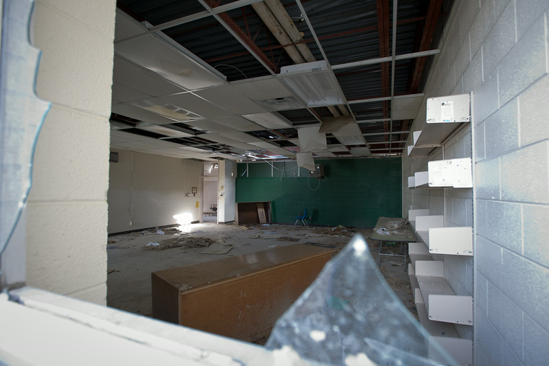 Chapman High School library.