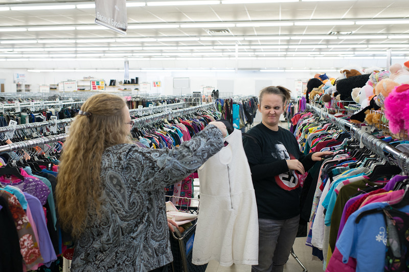 "2017. Sabrina, 13 weeks pregnant, goes clothes shopping for her family at the local Goodwill. <br /> <br /> The last time she shopped here, her six-year-old daughter yelled ""look momma, a nigger,"" referring to a black employee, to whom Sabrina later apologized to. According to a 2014 census, blacks make up 0.08% of their county's population."