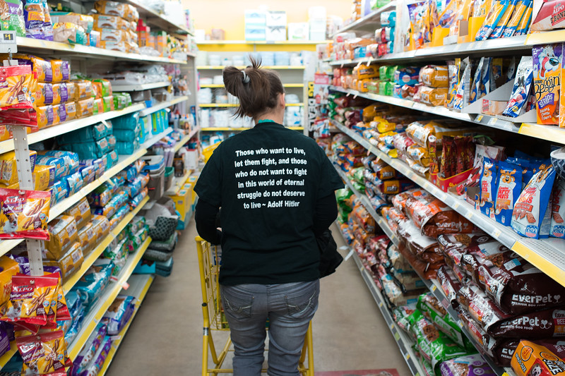 "God's Country, 2017. Sabrina, 13 weeks pregnant, goes food shopping for her family at the local market.<br /> <br /> The last time she shopped here, her six-year-old daughter yelled ""look momma, a nigger,"" referring to a black employee, to whom Sabrina later apologized to. According to a 2014 census, blacks make up 0.08% of their county's population."