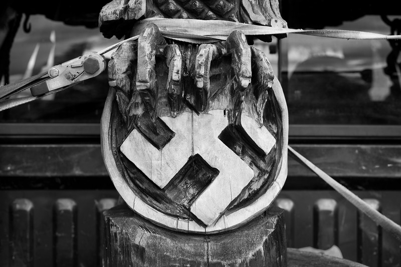 6/24/2017. PA. USA. One of Dan's carvings, a Parteiadler (Emblem of the Nationalsozialistische Deutsche Arbeiterpartei), or in English, simply the Nazi Party.