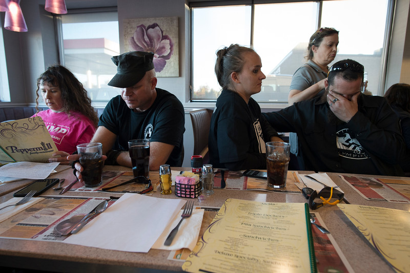 God's Country, 2016. Dan and Sabrina at a diner with several members of a Nazi organization following a public rally.
