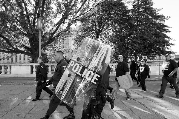 God's Country, 2016. Sabrina, along with members of several white nationalist organizations, including the Ku Klux Klan, march in formation after holding a fall political rally on the steps of the Pennsylvania state Capital building.